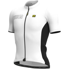 Alé Cycling Solid Color Block Maillot Manga Corta Hombre, white